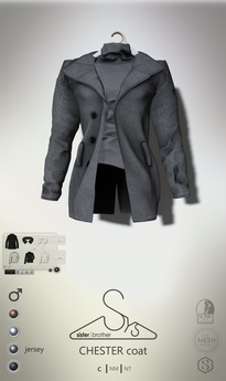 [sYs] CHESTER coat M (fitted & body mesh) - tweed GIFT <3