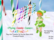 {HCM} Flying Christmas Candy Canes {Transfer}