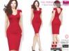 Full Perm V Neck Ponti Pencil Career Dress for Ocacin,Slink,Maitreya,Belleza All, Ebody, TMP, Fitmesh