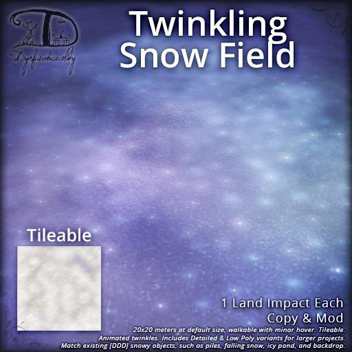 [DDD] Twinkling Snow Field - 20x20 Mesh Snow with Prebuilt Twinkles & Materials Enhanced