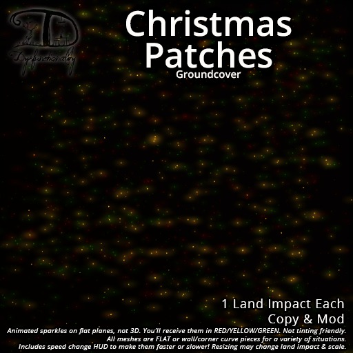 [DDD] Christmas Patches - Shimmering Red Gold Green Patches of Twinkle for Seasonal Cheer