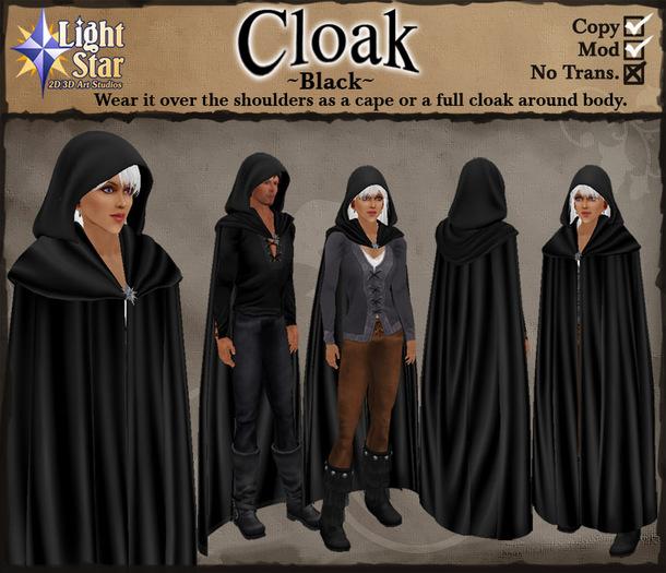 *LightStar - Black Cloak, Cape