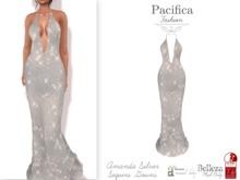 Pacifica Fashion – Amanda Silver Sequins Gown - Belleza, Freya, Venus, Isis, Maitreya, Slink, Physique, Hourglass