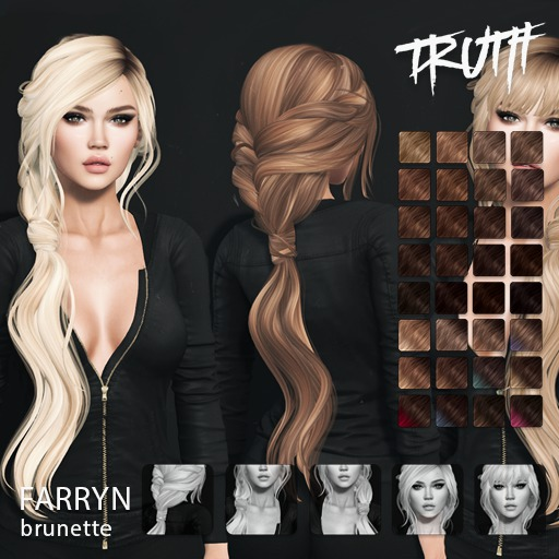TRUTH Farryn (Fitted Mesh Hair) - Brunette