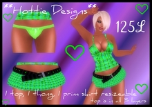 **Hottie Designs** Green Outfit