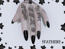 +FATHER+ - Maitreya Snowflake Nails - Black