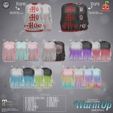 07[Cubic Cherry] {WarmUp} sweater rose black (mait)