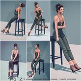Po^Z Bento - Female stool pose ( with stool )