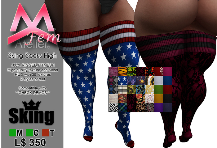 <MK> Socks High - SKING - BRAZILIA DOLL - KATENA - BIMBO