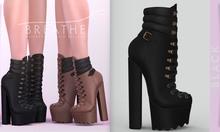 [BREATHE]-Elena Heels-Black-(for Slink High Feet & Maitreya Lara & Belleza)