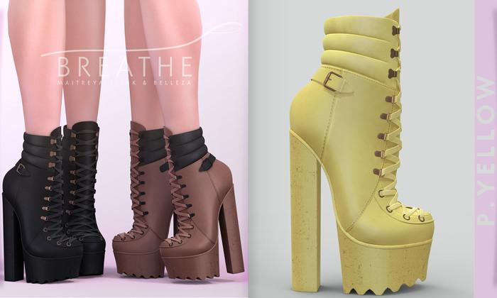 [BREATHE]-Elena Heels-Primrose Yellow-(for Slink High Feet & Maitreya Lara & Belleza)