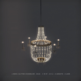 [ keke ] glitter chandelier . gold. 2 lengths . 2 lods (mesh)