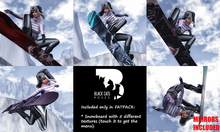 Black Cats poses - Snowboard FATPACK + mirrors