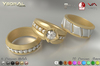 (BENTO)~~ Ysoral ~~  .:Set Luxe 3 Rings Weeding Passion :.