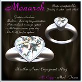 Heather Heart Engagment Ring