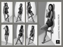 Leaning wall poses heels