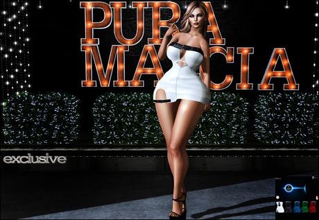 [PURA MALICIA]-Mini Dress Mirella-Fitmesh-Exclusive