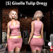 s  giselle tulip dress pink ad