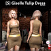 s  giselle tulip dress brown ad