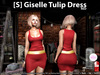 [S] Giselle Tulip Dress Red