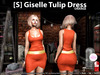 [S] Giselle Tulip Dress Orange