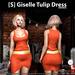 s  giselle tulip dress orange ad