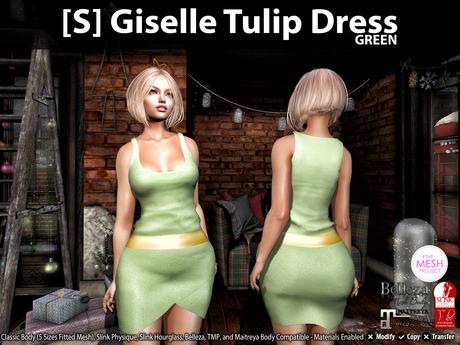 [S] Giselle Tulip Dress Green