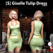s  giselle tulip dress green ad
