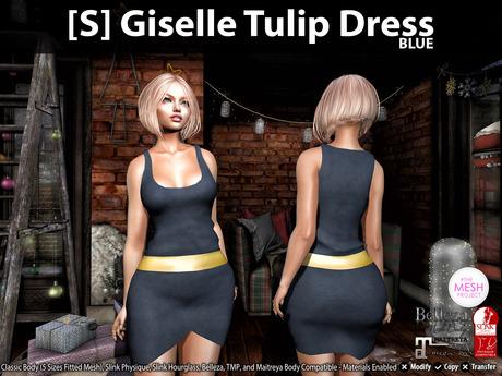 [S] Giselle Tulip Dress Blue