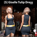 s  giselle tulip dress blue ad