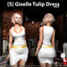 s  giselle tulip dress white ad