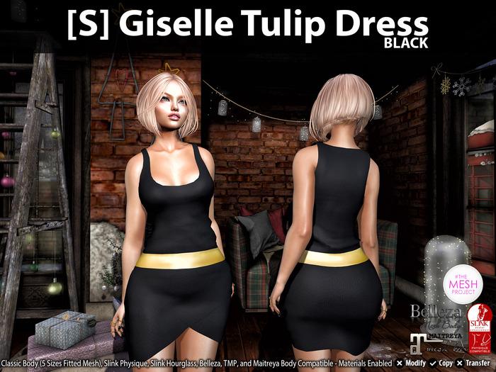 [S] Giselle Tulip Dress Black