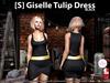 s  giselle tulip dress black pic