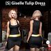 s  giselle tulip dress black ad