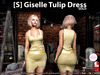 [S] Giselle Tulip Dress Gold