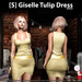 s  giselle tulip dress gold ad