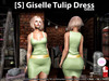 s  giselle tulip dress green pic