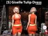 s  giselle tulip dress orange pic