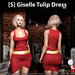 s  giselle tulip dress red ad
