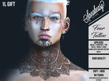 { Speakeasy } Fear Tattoo ( Neck & Face )