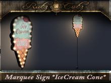 .: RatzCatz :. Marquee Sign *IceCream Cone*