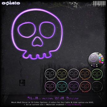 [ bubble ] Skully Neon Wall Decor