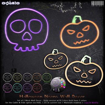 [ bubble ] Halloween Neon Wall Decor Set