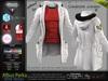 ALBUS WHITE Male Parka Jacket, with T- Shirt MESH - ADAM, AESTHETIC, SIGNATURE, SLINK, TMP, JAKE - FashionNatic