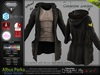 ALBUS BROWN Male Parka Jacket, with T- Shirt MESH - ADAM, AESTHETIC, SIGNATURE, SLINK, TMP, JAKE - FashionNatic