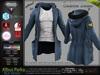 ALBUS BLUE Male Parka Jacket, with T- Shirt MESH - ADAM, AESTHETIC, SIGNATURE, SLINK, TMP, JAKE - FashionNatic