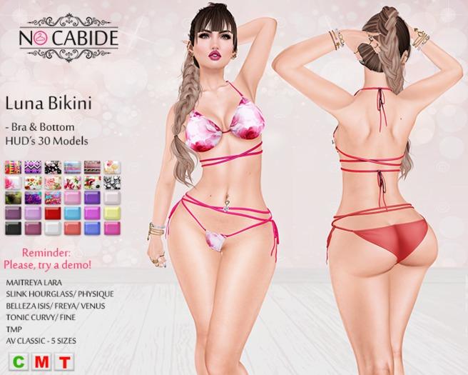 :: No Cabide :: Luna Bikini - Top & Bottom HUD's 30Models