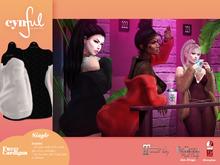 [Cynful] Fuzzy Cardigan - White [Maitreya Lara, Belleza (Isis + Freya), Slink (HG), Legacy Female