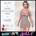 "RD - ""Alyx"" - Bare Shoulder Mini - Haze"