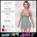 """RD - """"Alyx"""" - Bare Shoulder Mini - Teal"""